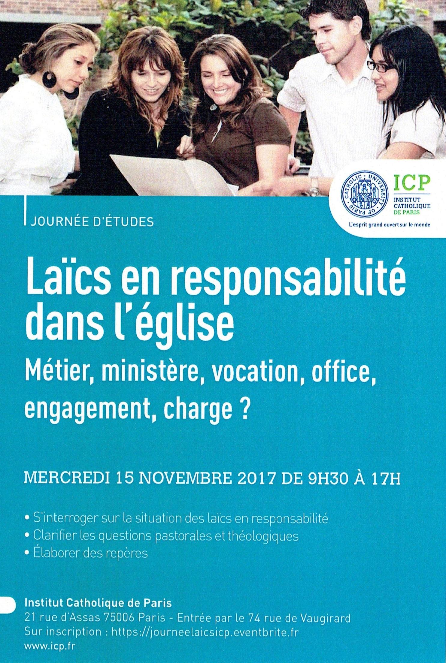 Formation ICP - Laics en responsabilité dans l'Eglise 1