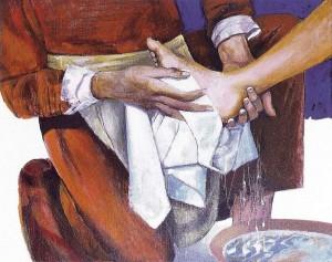 lavement des pieds Arcabas
