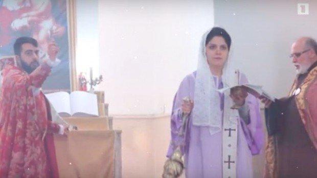 Ordination d'une diaconesse dans l'Eglise arménienne orthodoxe apostolique à Téhéran