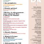 Diaconat Aujourd'hui n°204 sommaire